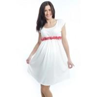 Rochie alba de vara pentru gravide «Roza»
