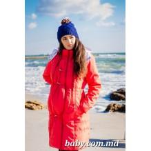 Пальто зимнее для беременных Коралл