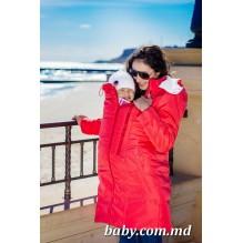 Демисезонная слингокуртка-ветровка защитит маму с малышом в капризную погоду межсезонья. (ТМ Katinka)