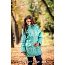 Куртка для беременных зимняя Бирюза